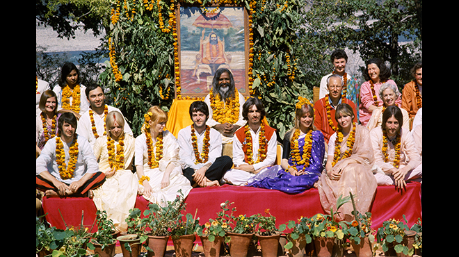 The Beatles and the Maharishi © Paul Saltzman 1