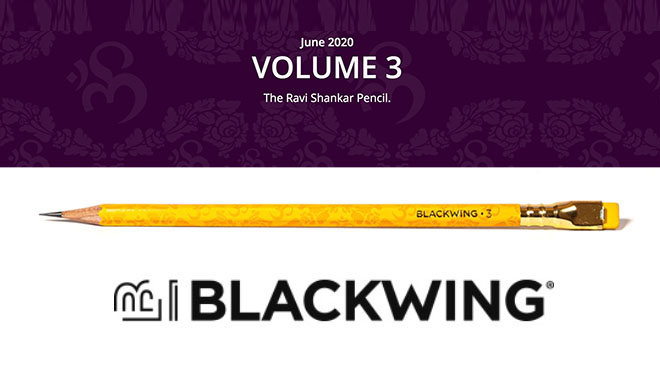 Blackwing Pencil Ravi Shankar Volume
